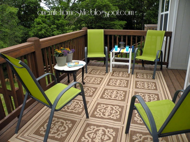 Deck Space - After  -  Green Chairs White Tables