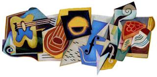 Juan Gris Si Pelukis Kubisme di logo Google
