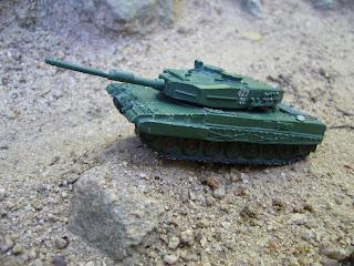 diorama del tanque de guerra Leopard 2
