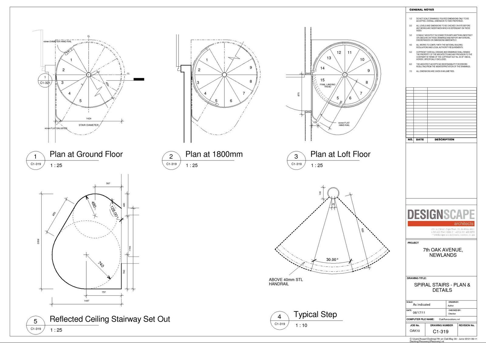 Dane minords pss Spiral stair details