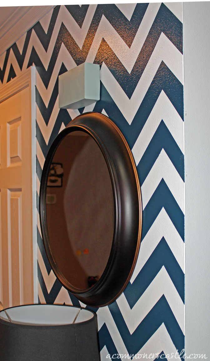 Do it yourself how to paint chevron stripes on a wall for How to paint a wall yourself