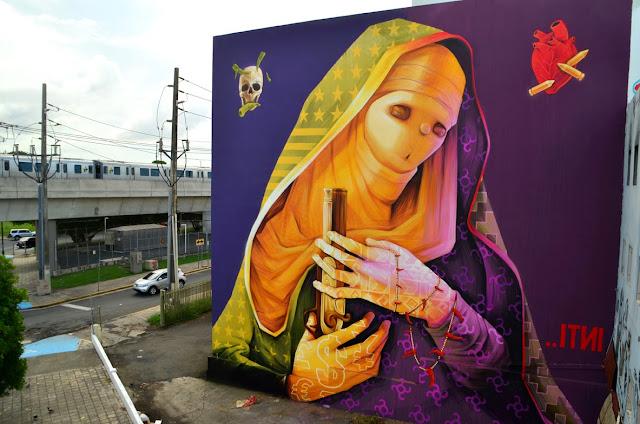Street Art By Chilean Artist INTI For Los Muros Hablan '13 In San Juan, Puerto Rico. 1