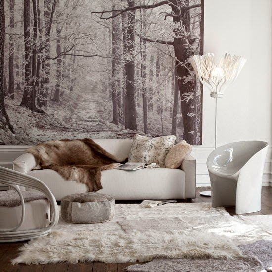 Winter Decorations Interior Design Living Room Picture 10