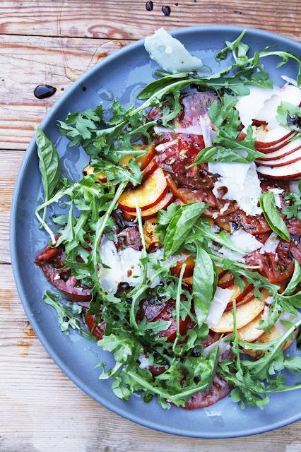 Heirloom Tomato And Nectarine Salad Recipe — Dishmaps