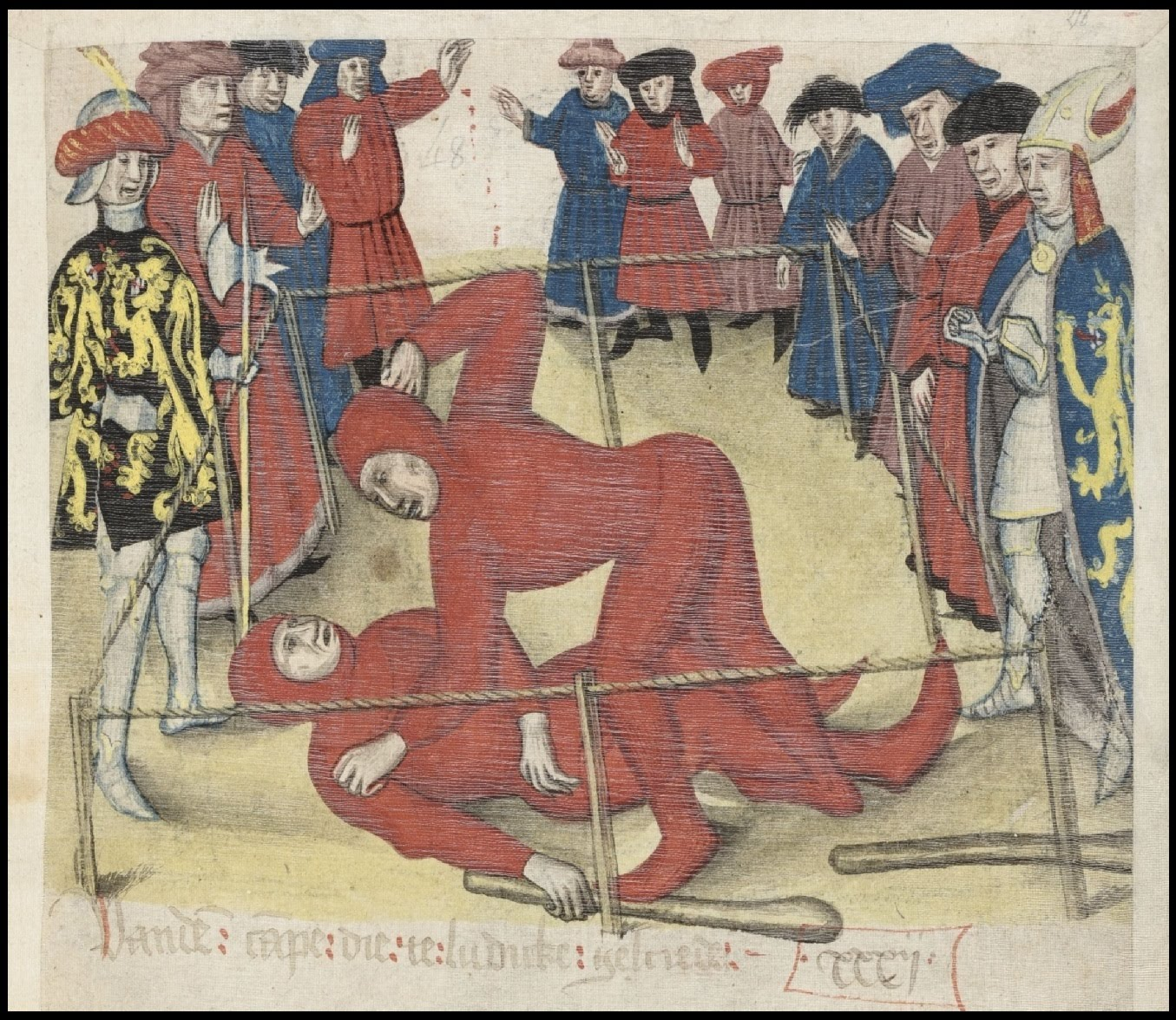 medieval wrestling illustration