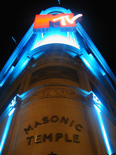 MTV canda templo masonico, iglesia illuminati