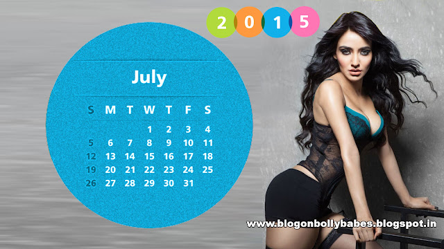 Neha-Sharma-July-2015-Calendar-Wallpaper
