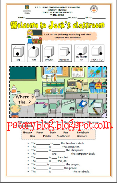 Vocabulary worksheet at the el furthermore printable shapes to color