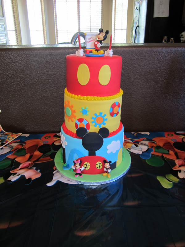 The Cake Shoppe Mickey Mouse Clubhouse Birthday Cake
