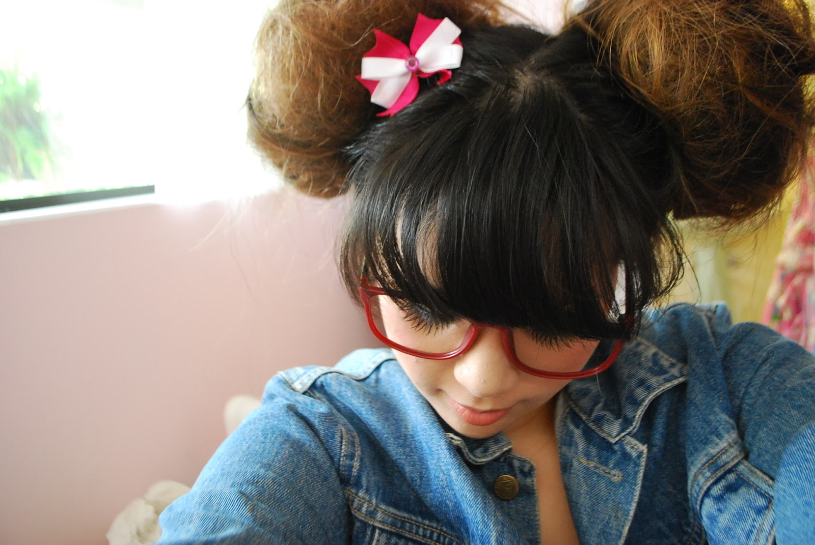 braid bow hairstyle odango buns hair experiment odangos pretty accessories