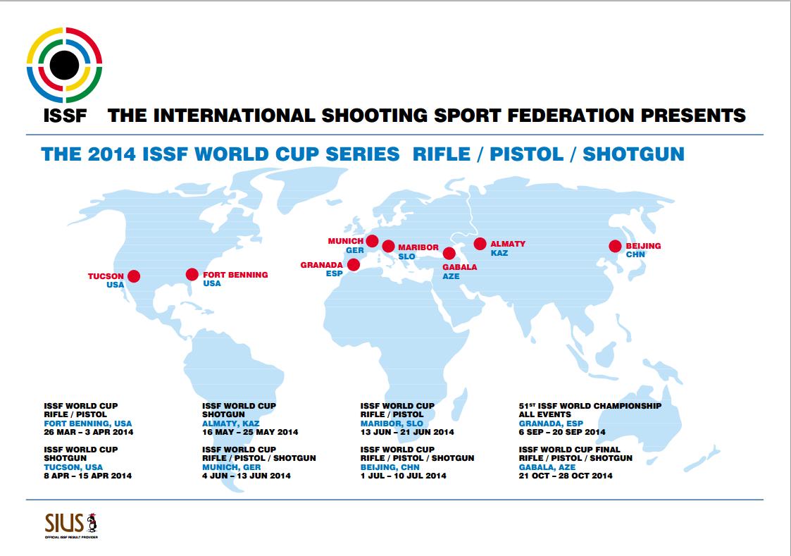Copa do Mundo ISSF de Tiro Esportivo - Carabina, Pistola e Tiro ao Prato Olímpico