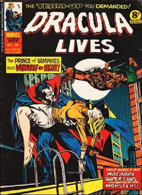 Marvel UK, Dracula Lives #38, Dracula vs Werewolf by Night