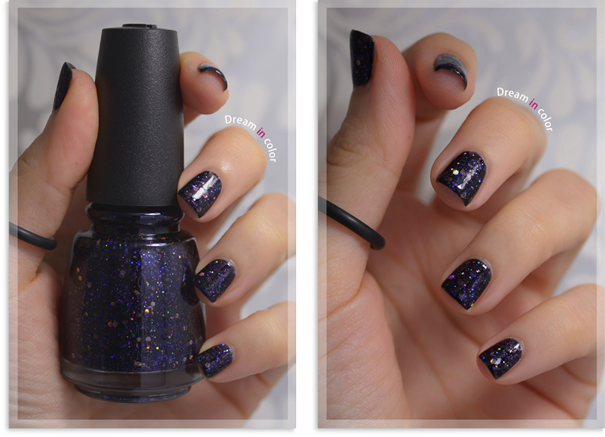 China Glaze Coal hands warm heart