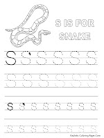 Snake Alphabet Tracer Pages