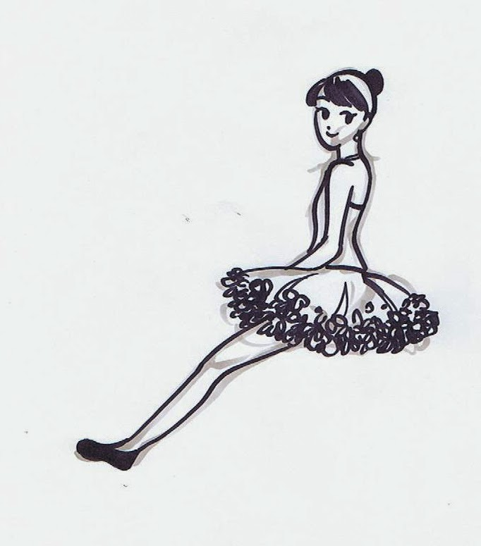 5 minute drawing ~ Ballerina