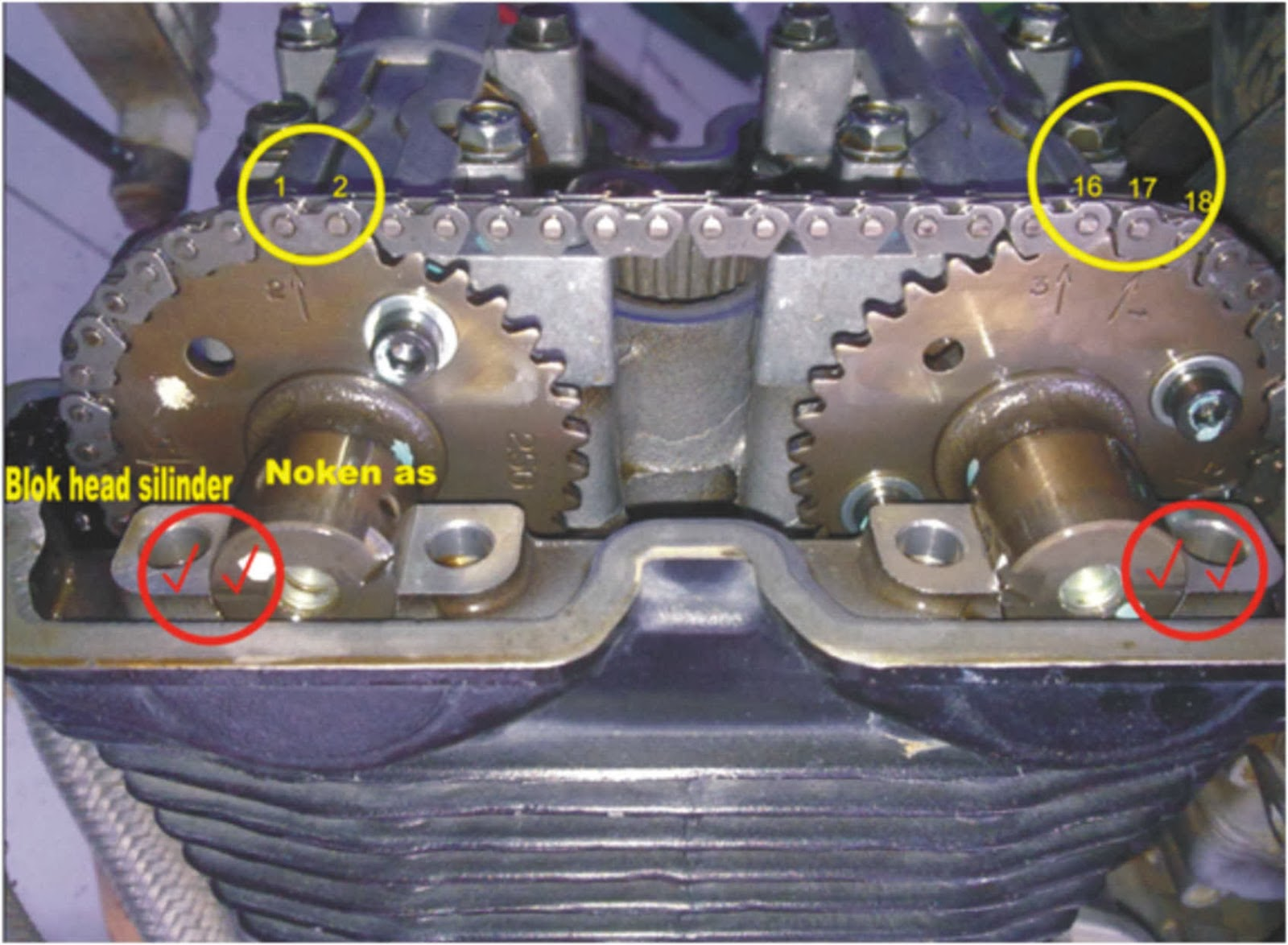 why45 motor: cara menyetel top noken as & pasang klep satria fu
