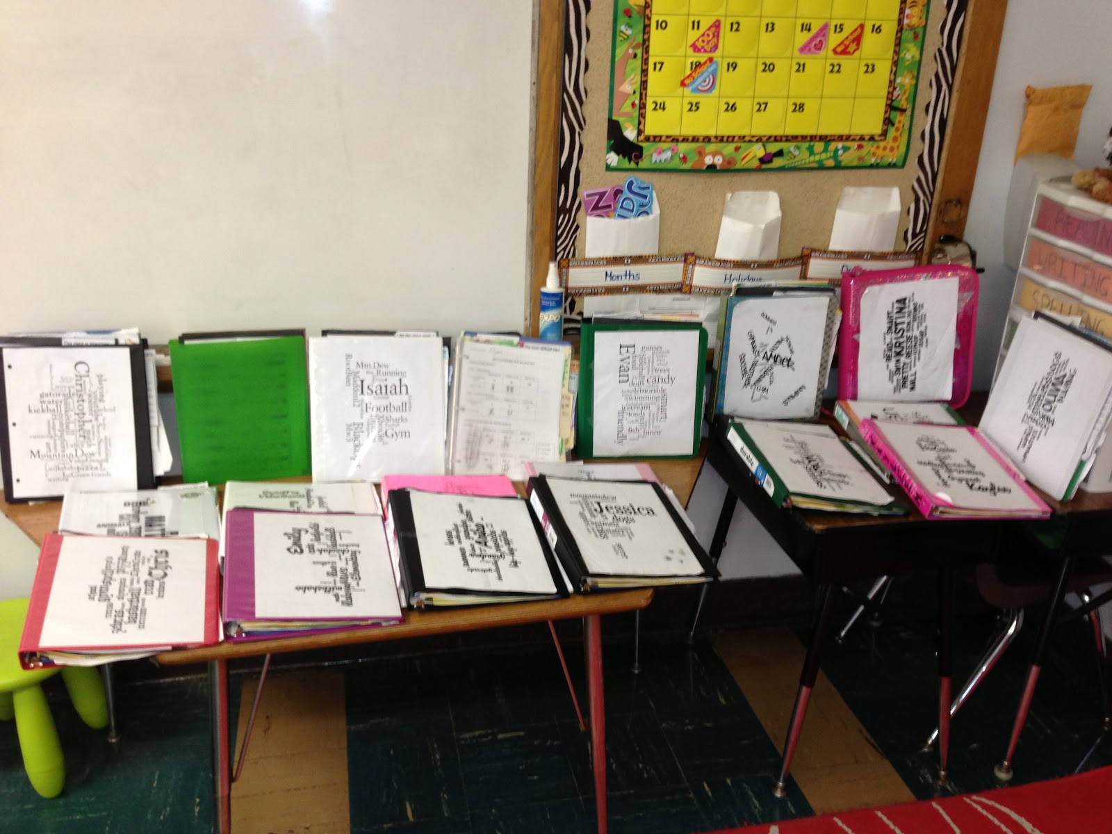 Classroom Design Page : Sample portfolio for students classroom pictures to pin on