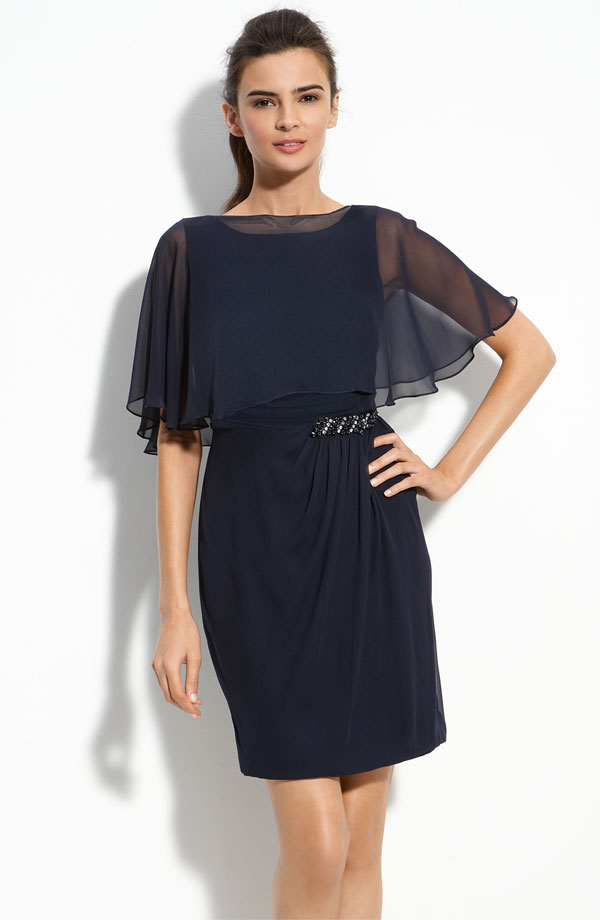 mother of the bride dress with flutter sleeves