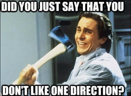 One Direction Meme: American Psycho Axe