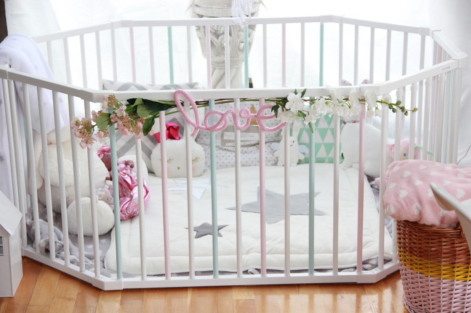 when shabby loves chic tuto deco customiser un parc pour bebe. Black Bedroom Furniture Sets. Home Design Ideas