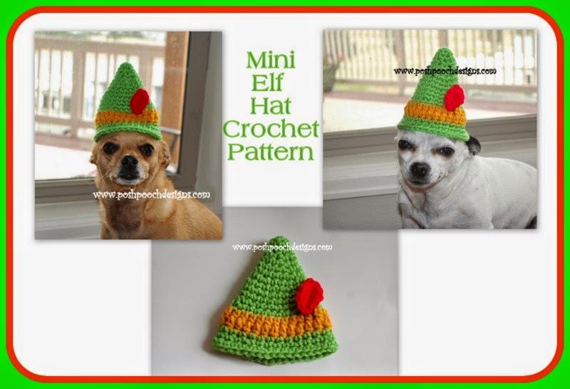 Mini Elf Knitting Pattern : Posh Pooch Designs Dog Clothes: Mini Elf Hat Crochet Pattern