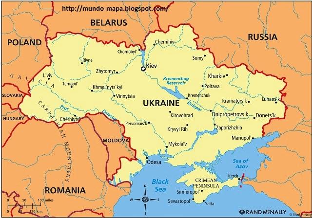 Mapa de Ucrania Politico