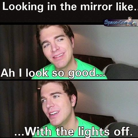 funny people mirror picture