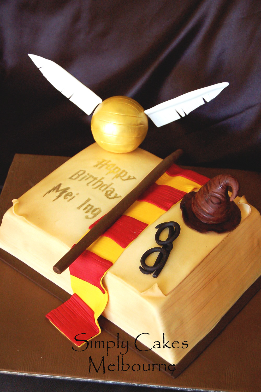 Simply Cakes Melbourne Harry Potter Book Cake