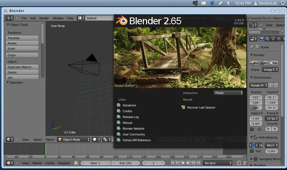 Blender game engine ubuntu