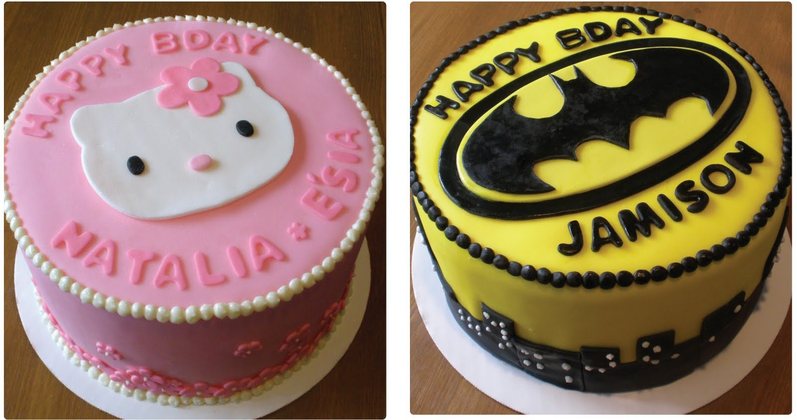 Sweet Catastrophe Hello Kitty Batman Birthday Cakes