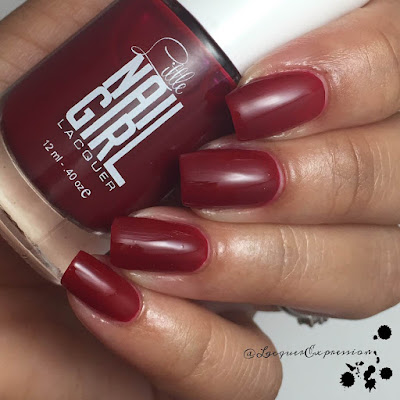 Swatch and review of Amber nail polish by Little Nail Gail Lacquer