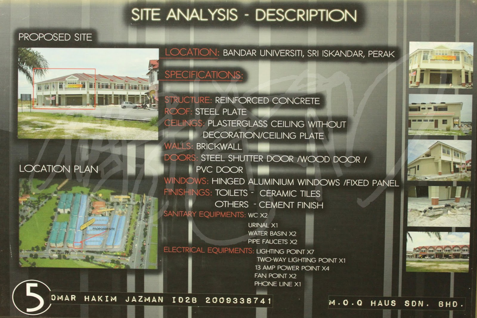 Here Are My Site Analysis Review Which I Have Compressed It To Board 1 Details Of Specifications