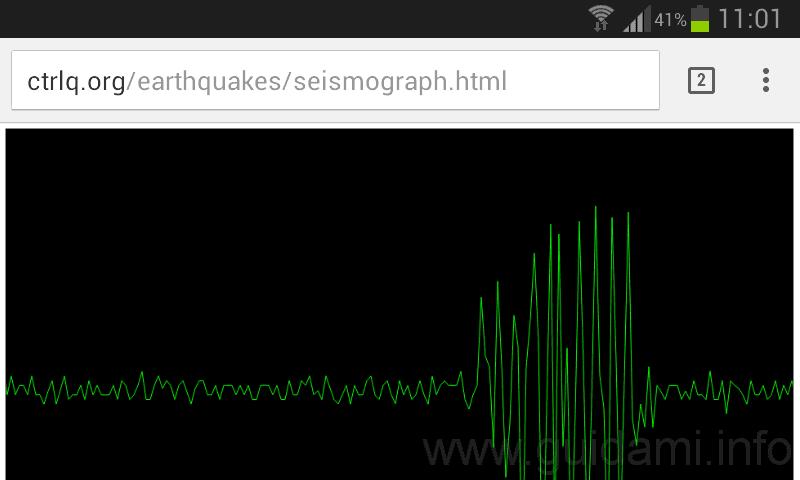Sismografo per smartphone e tablet