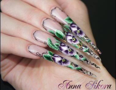 Acrylic Nails Acrylic Stiletto Nails