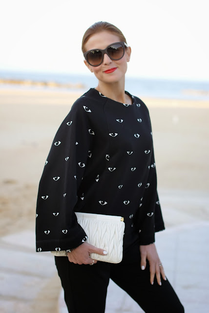 Kenzo eye print kimono sweatshirt, Fashion and Cookies, fashion blogger
