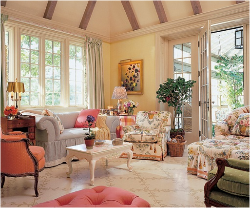 Key interiors by shinay english country living room for Country family room decorating ideas