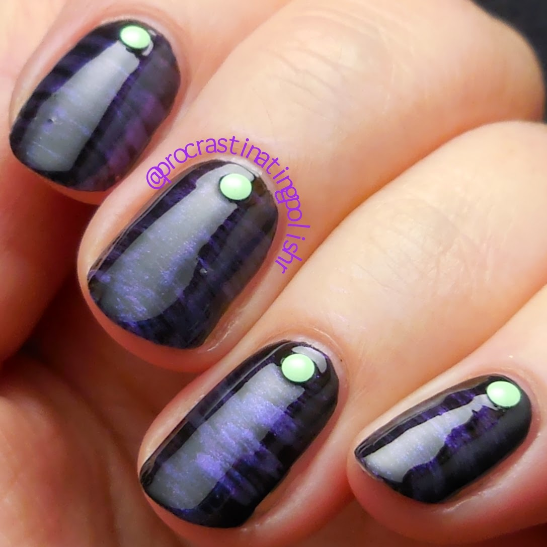 Fan brush nail art with Cult Nails - Charming