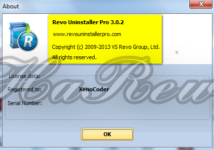 B Revo Uninstaller Pro 3/b.0.2 + Serial Number.