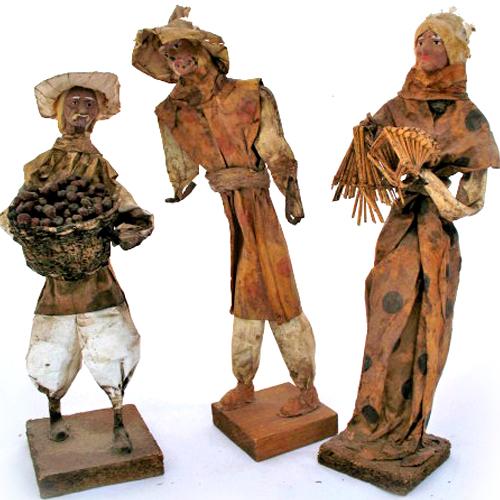 Tropicalfeel vintage lot 3 collectible paper mache folk for Papier mache art for sale
