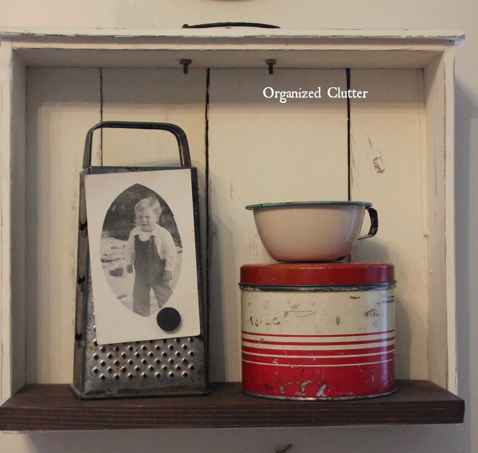 Repurposed Drawer Shelf