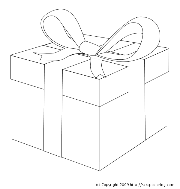 gifts coloring pages - photo#19