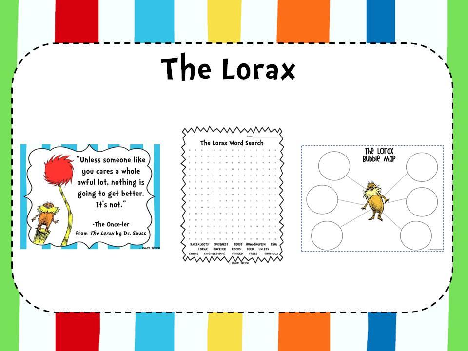 Classroom Freebies The Lorax – Lorax Worksheet