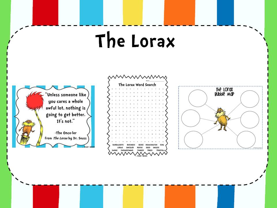Classroom Freebies The Lorax – The Lorax Worksheets