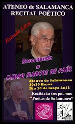 "RECITAL POÉTICO ""Recordando a Isidro Marcos de Paúl"""