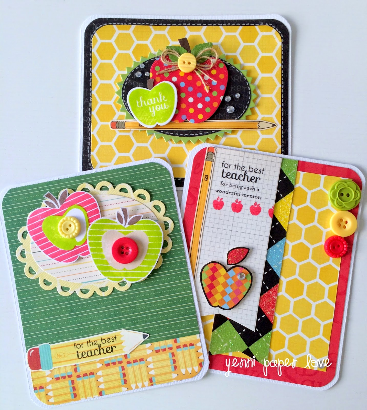 Teacher's day cards and bookmark - Yenni Paper Love