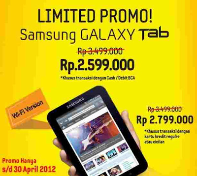 Promo Samsung Galaxy Tab Inch Wifi Sampai Dengan April