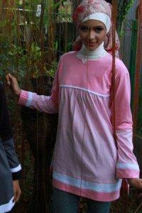 UKHTI Teens UT22 - Pink & Hitam Abu (Toko Jilbab dan Busana Muslimah Terbaru)