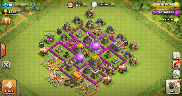 Farming Base Clash of Clans TH 6