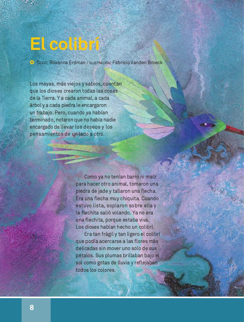 El colibrí - Español Lecturas 4to 2014-2015