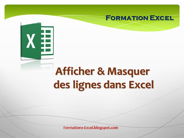 Afficher et masquer des lignes dans Excel